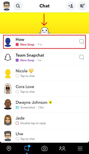 Reopen snaps on Snapchat