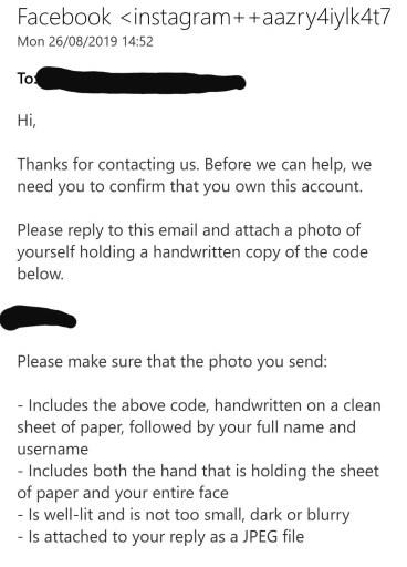 Instagram handwritten code