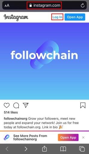 Instagram browser
