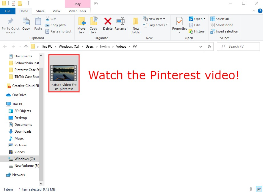 Watch the Pinterest video
