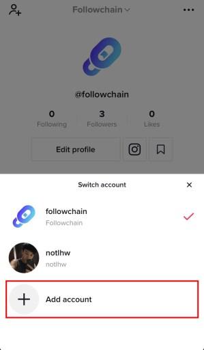 How to add a TikTok account