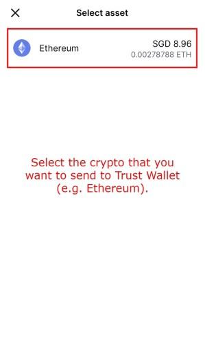 Coinbase select asset