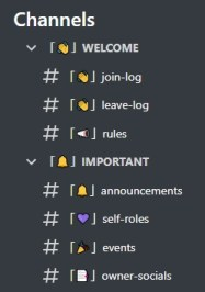 Gaming Discord server template