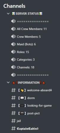 Pirate Discord server template