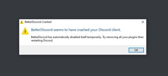 BetterDiscord crash