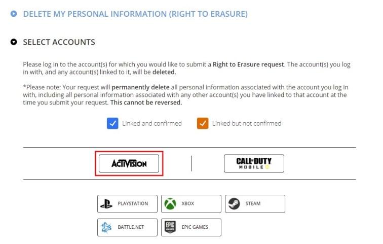 Right to Erasure
