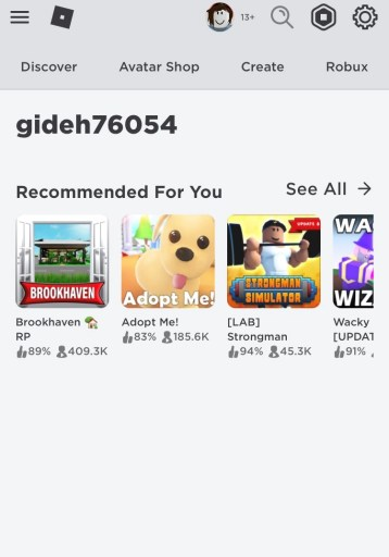 Roblox recommended for you