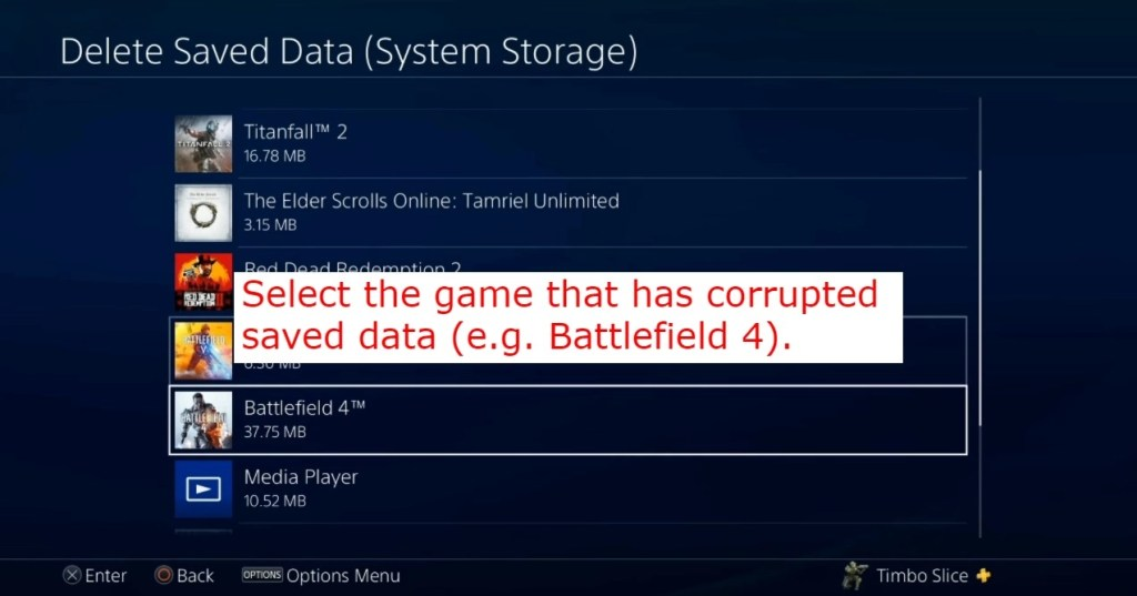 Corrupted saved data