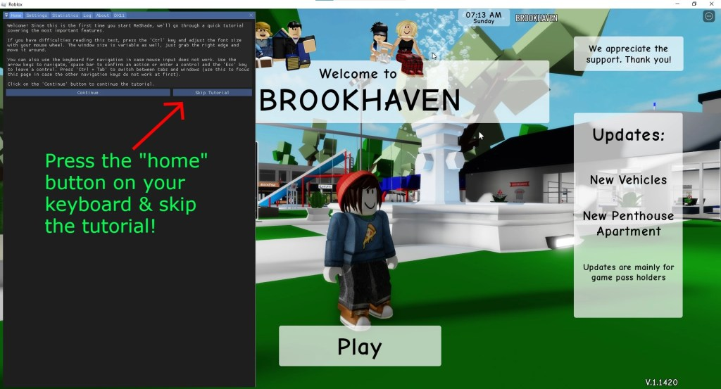 How to get shaders on Roblox