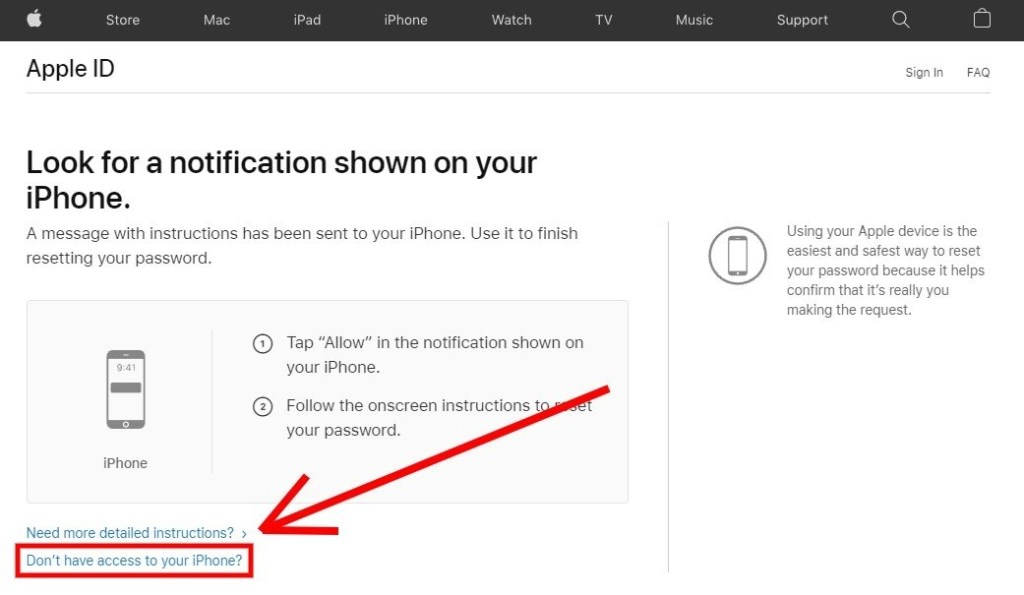 Don't have access to your iPhone