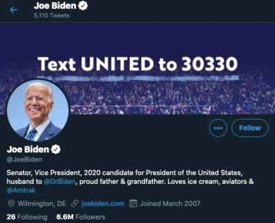 Biden's Twitter follower audit