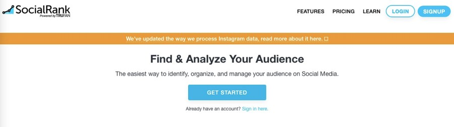 Social Rank Twitter Analytics Tool