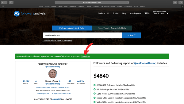 download Twitter followers with FollowersAnalysis