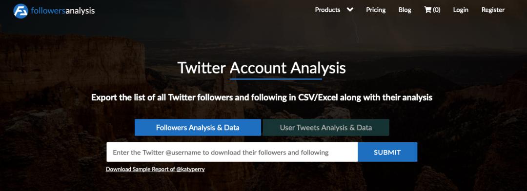 export Twitter followers list with FollowersAnalysis