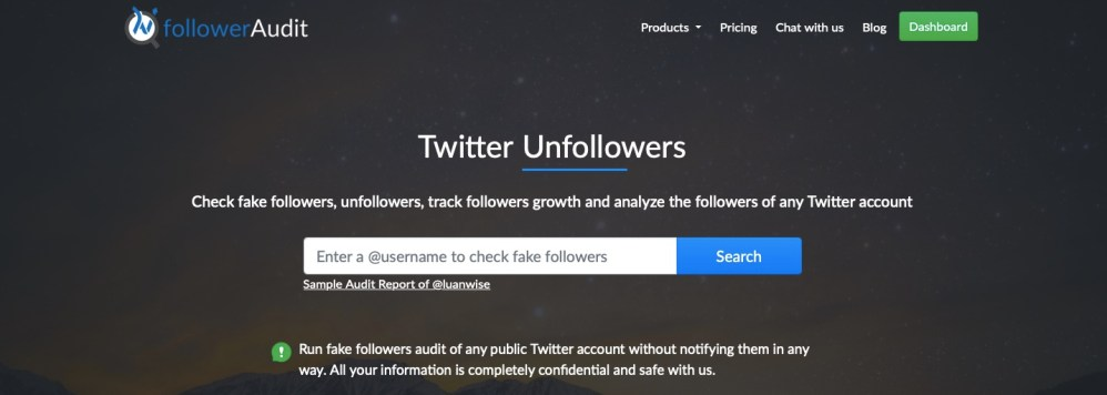 track Twitter followers with FollowerAudit