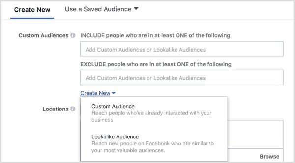 32 Create new audience iklan instagram