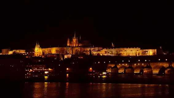 Prague castle night