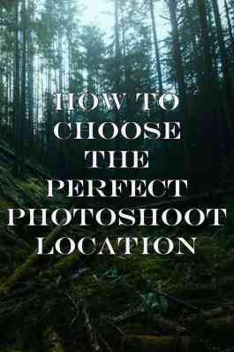 How to Choose the Perfect Photoshoot Location