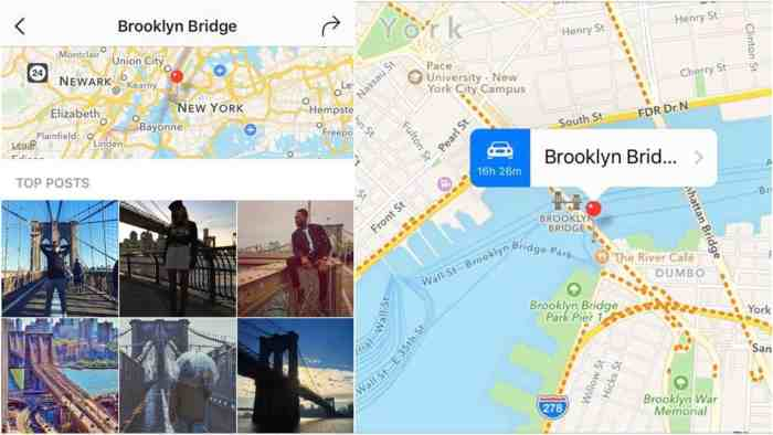 Pictures of maps and New York City's Brooklyn Bridge from Followmeaway.com.