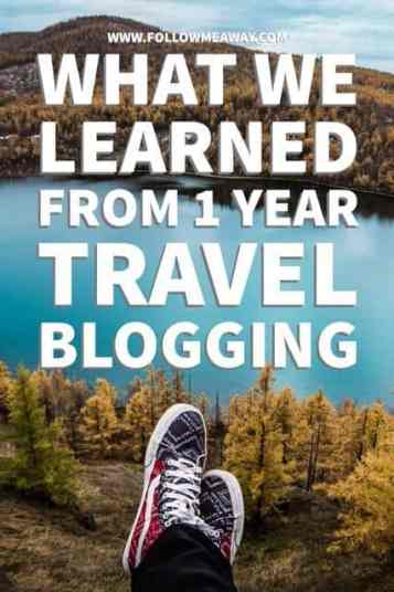 What We Learned From One Year Travel Blogging For Follow Me Away | Travel Blogging Tips | Follow Me Away Travel Blogging One Year Recap | Travel Blog Anniversary