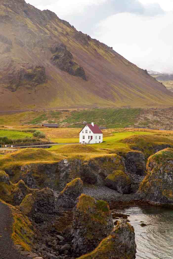 See the Arnarstapi House On The Snaefellsnes Peninsula