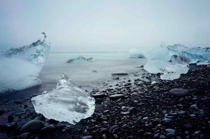 glacier beach in iceland