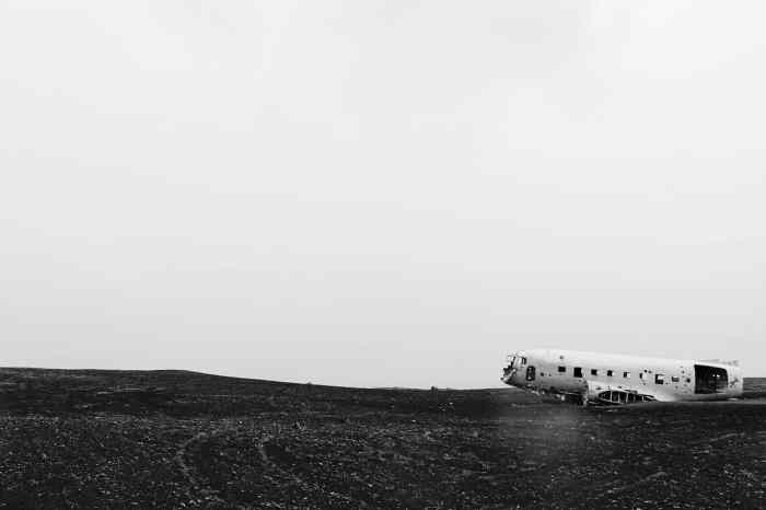 Solheimasandur is where you can see a plane wreck on a black beach in iceland
