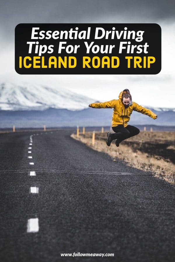 Driving in Iceland for an Iceland road trip? Our essential tips for safe driving in Iceland will get you ready for your Ring Road itinerary! These Iceland road trip driving tips will help you plan and prepare and know what to expect when driving in Iceland! Our Iceland travel tips will help make your trip more enjoyable! #iceland #traveltips #travel #roadtrip #icelandtrip #icelandic #road #jump #yellowjacket