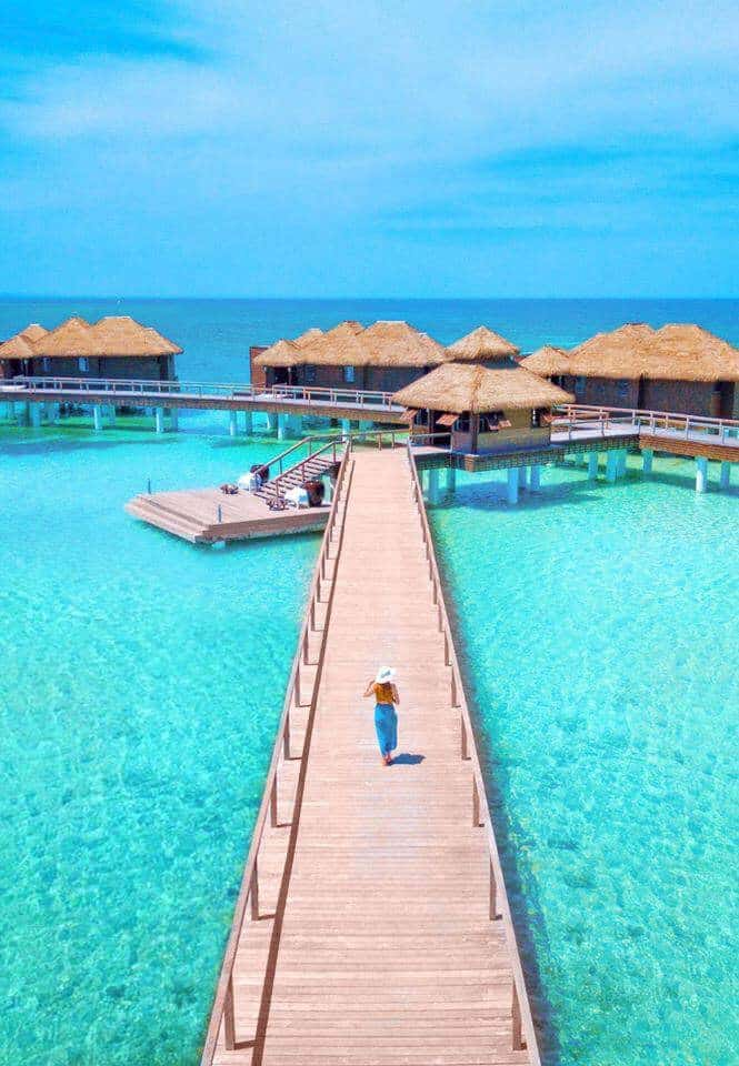 Overwater Bungalows In Montego Bay Jamaica at Sandals Royal Caribbean Resort