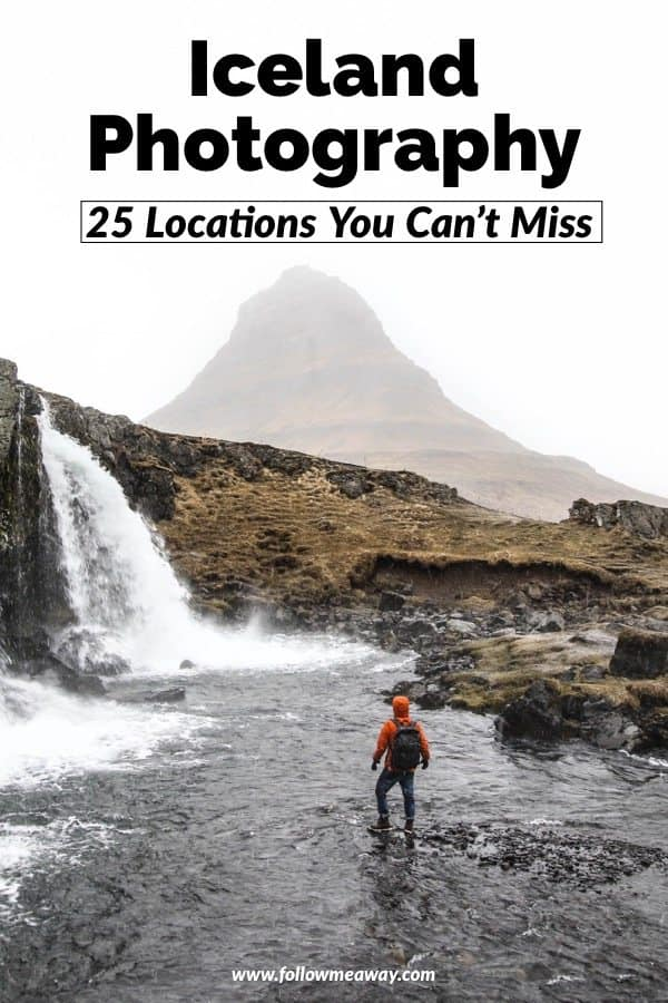 If you are planning an Iceland photography trip, these are 25 photography locations in Iceland you can't miss! From stunning black sand beaches in Iceland to the best waterfalls in Iceland, these Iceland photography locations will not let you down! Make sure to add these Iceland travel tips! #iceland #kirkjufell #mountain #waterfall #icelandic #icelandtravel #traveliceland #landscapephoto #photographytips #travel #europe #blacksandbeach #waterfall #waterfalls