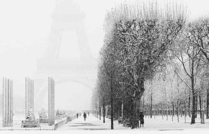 eiffel tower during winter in Paris