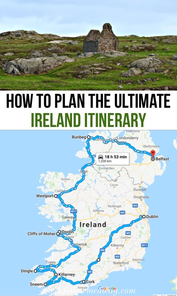 Detailed Road Map Of Ireland.The Perfect Ireland Road Trip Itinerary You Should Steal Follow Me
