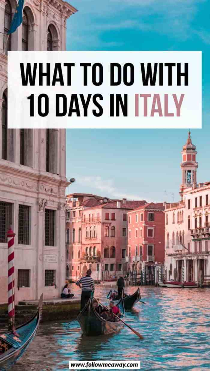 The Ultimate 10 Days In Italy Itinerary For Any Time Of Year | What to do with 10 days in Italy | Italy itinerary for 10 days | how to plan a trip to Italy | italy travel tips | best things to do in Italy #italy