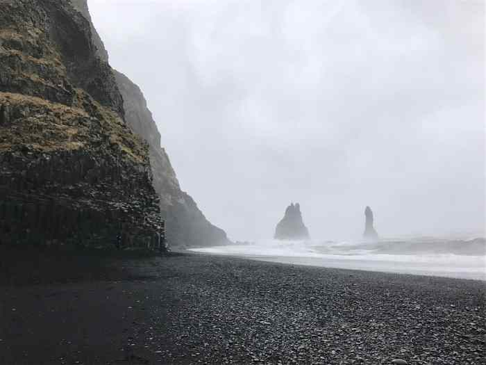 visit a black sand beach for what to do in iceland in winter