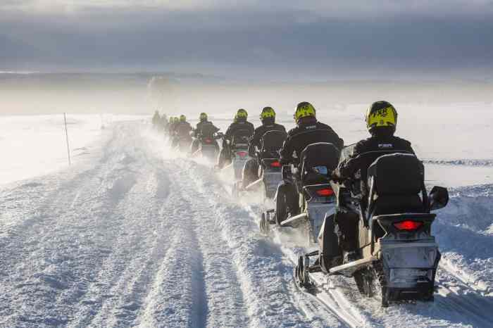 best things to do in iceland snowmobile on a glacier