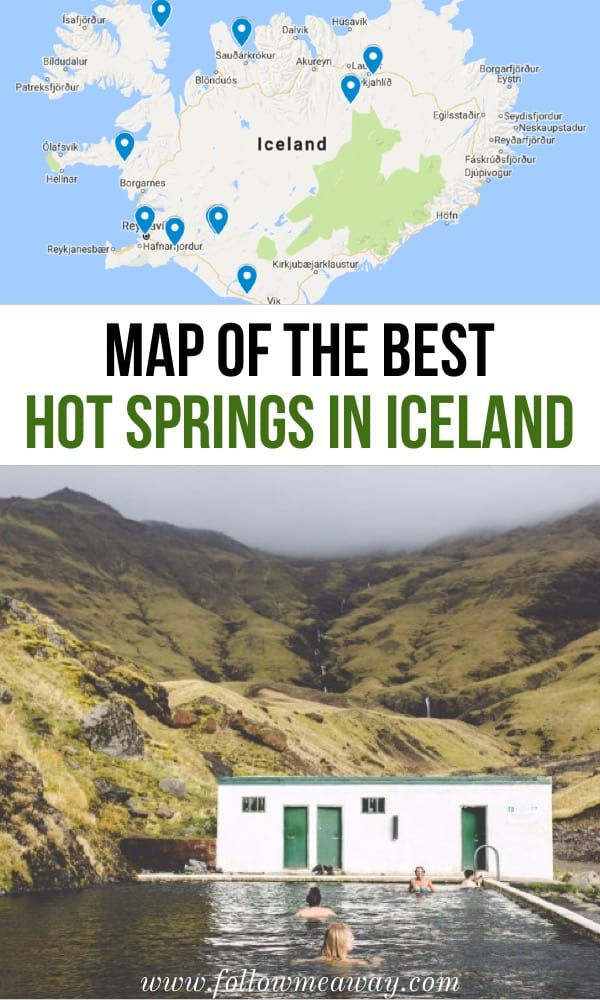 detailed map of the best hot springs in Iceland | map of iceland | top hot springs in iceland | iceland travel tips | travel to iceland | things to do in iceland | visit hot springs in iceland | blue lagoon iceland