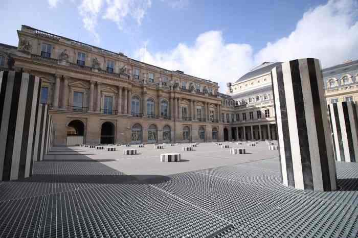 art installation at the Palais-Royal in paris during your paris itinerary | things to do in paris