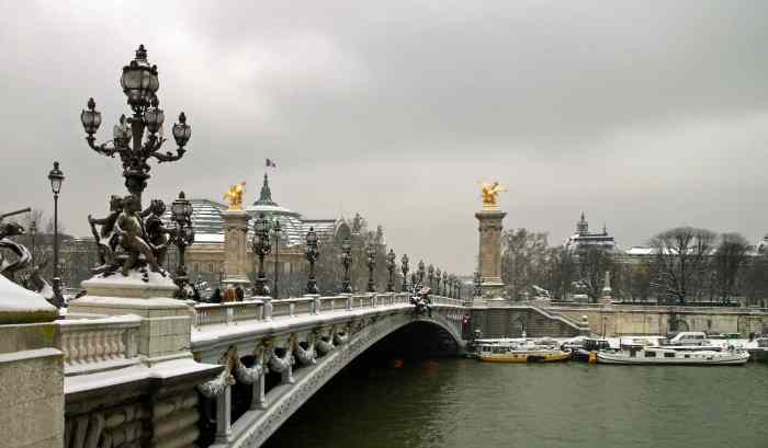 bridges in Paris | paris in winter
