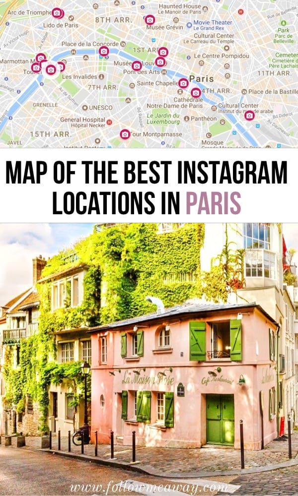 Top 20 Instagram Spots in Paris for Photography | Paris Instagram Photography Locations | Map of things to do in Paris | Paris photography locations | Paris travel tips | Paris photo guide