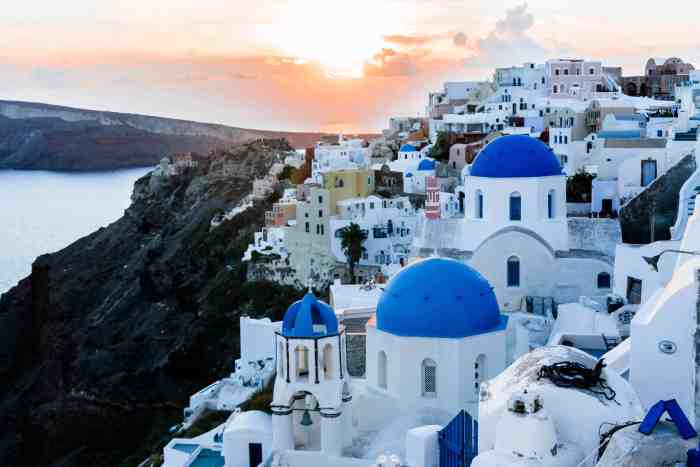 Santorini Greece is one of the most romantic places in europe