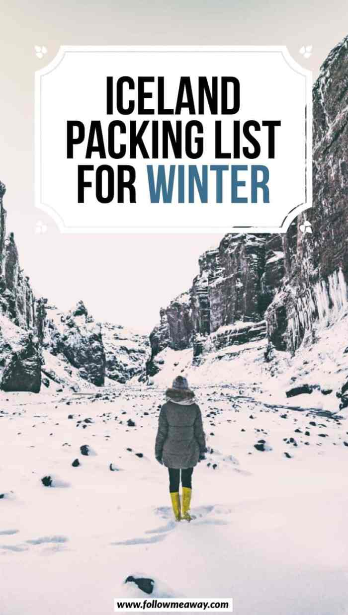 Iceland packing list for winter | What To Wear In Iceland In Winter | Iceland in winter | winter in iceland travel tips | how to pack for Iceland during the winter