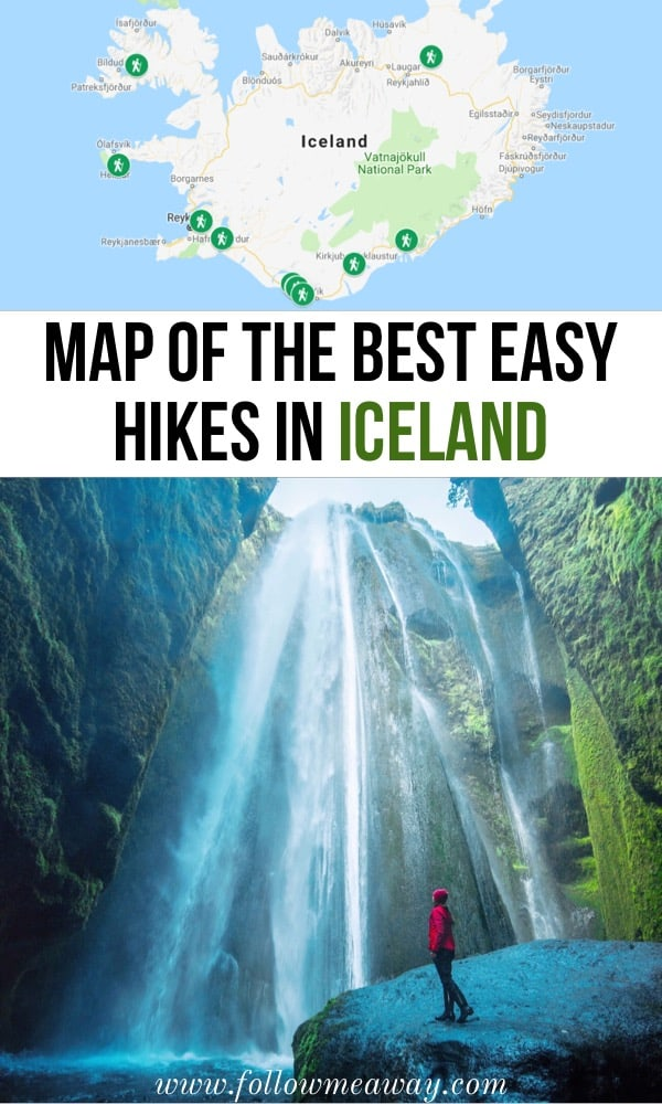 Best Easy Hikes In Iceland That Will Blow Your Mind | map of the best hikes in iceland | iceland travel tips | best things to do in iceland | hiking in iceland | what to do in iceland
