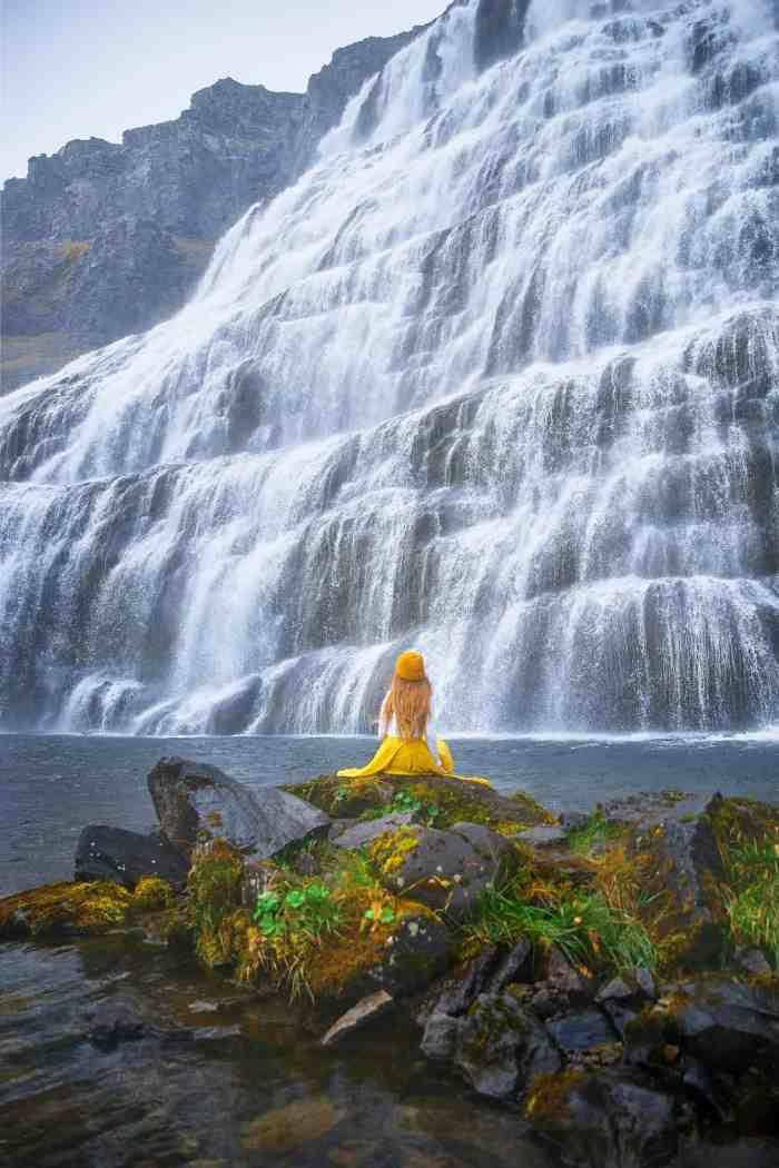 Dynjandi Waterfall in Iceland Westfjords