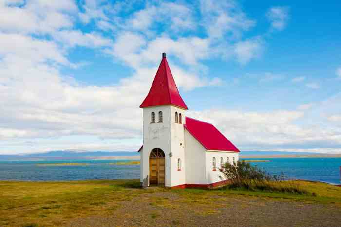 Cute little red church in Iceland's Westfjords |  What To Know Before Visiting The Westfjords Iceland
