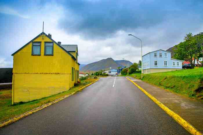 cute houses in the westfjords iceland