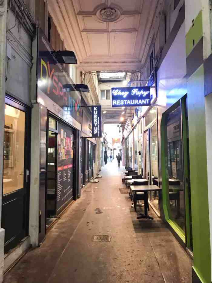 Passage du Ponceau is the covered passage where the locals go in Paris
