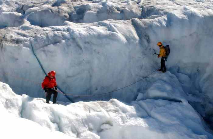 Ice climbing in iceland is not for the faint of heart