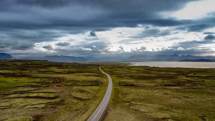 Road closures are common during spring in Iceland