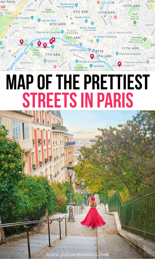 Map Of Streets in Paris
