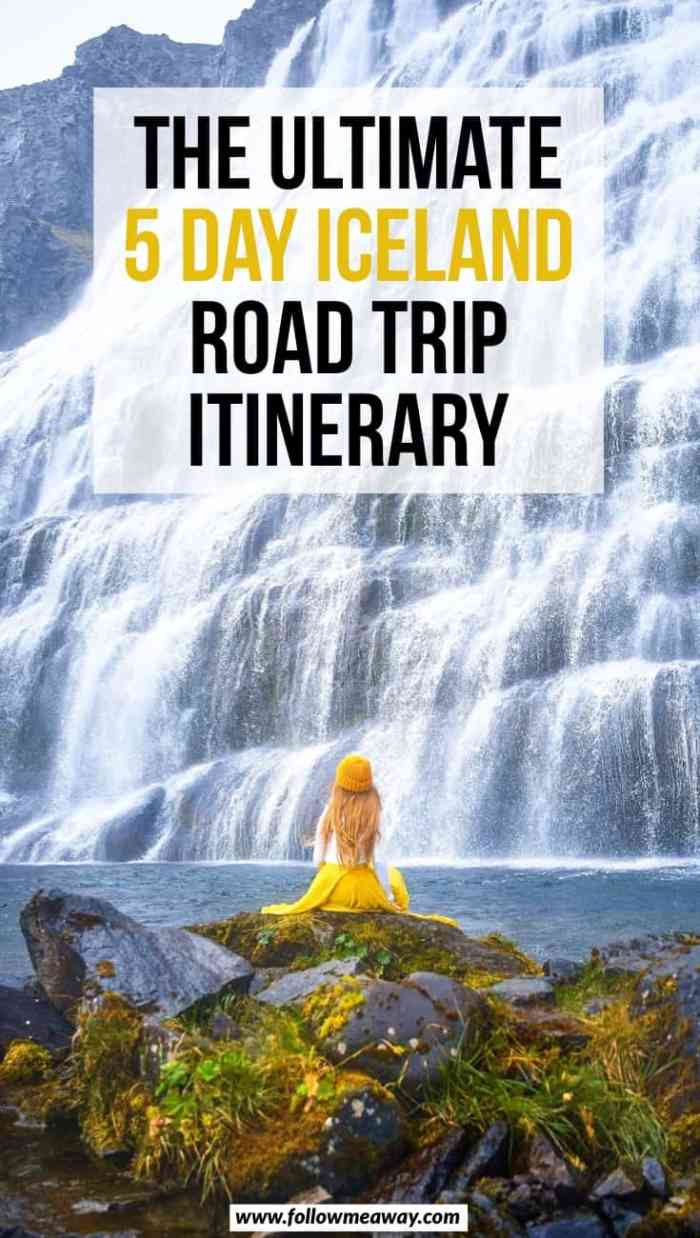 The Ultimate 5 Days In Iceland Road Trip Itinerary will help you plan your iceland itinerary. With the best things to do in Iceland during your trip and best photo stops including a map, this Iceland travel itinerary is here for you!